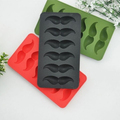 creative silicone mustache ice mold and moustache ice cube tray