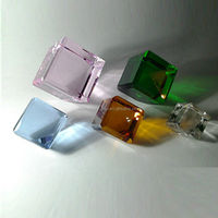 Colored Blank Laser Cut Crystal Paperweights