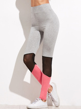 High quality work out wear compression mesh ladies sexy yoga pants