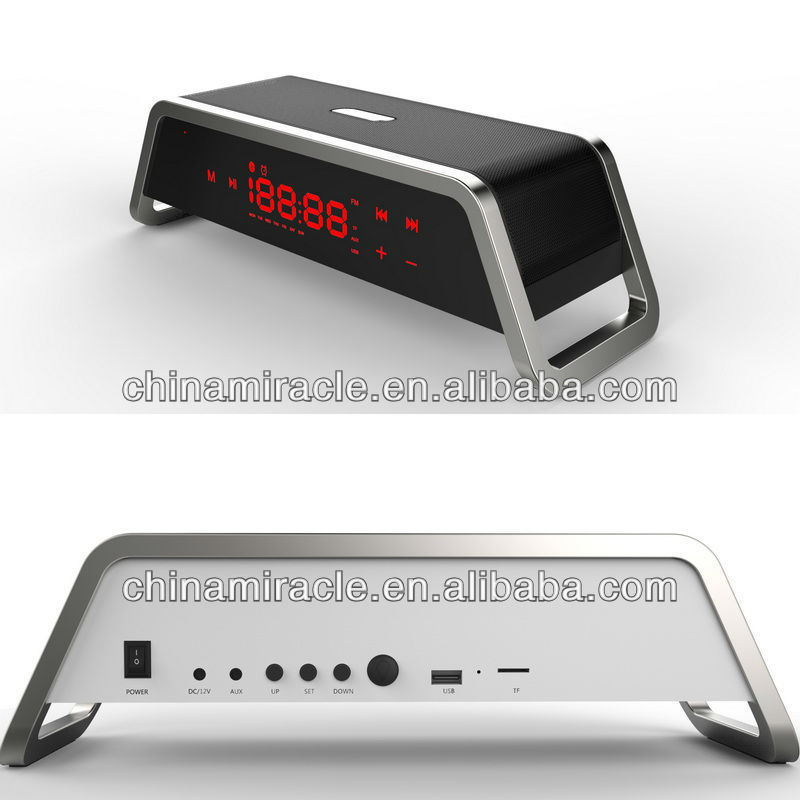 music clock bluetooth speaker best quality from china manufacturer micro sd card reader mp3 player speaker