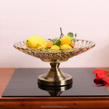 Practical dining-table fruit bowl crystal glass arts and crafts for home decor glassware