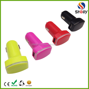 CE/Rohs approved promotional gifts customized logo cheap dual 12V usb car battery charger