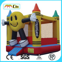 CILE Smily Face Air Castle Inflatable Jumper Bouncer for Kids with Good Quanlity