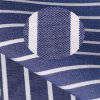 dark blue white stripe 100% combed cotton jersey fabric for men's shirt from manufacturers