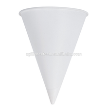 2015 Cheap Price Disposable White Paper Cone Cups Wholesale