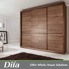 Wooden door designs clothes dressing cupboard for bedroom wall