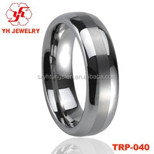 Comfort Tungsten Ring with Brushed Surface Logo Hidden Camera For Men