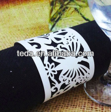 Paper Napkin Rings Butterfly Design