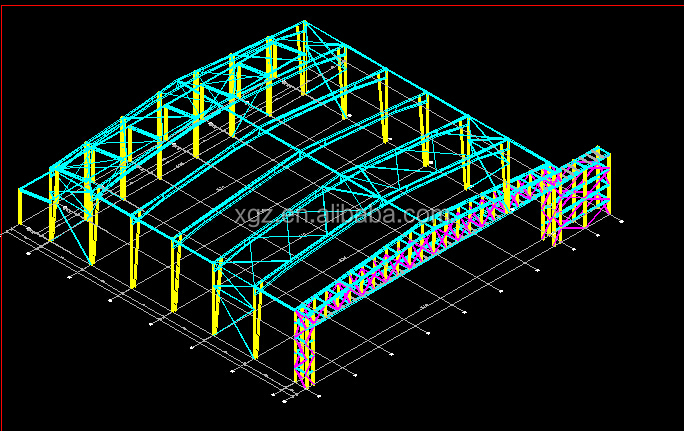 Aircraft hangar space frame roofing steel shade structure design&manufacture& Installation