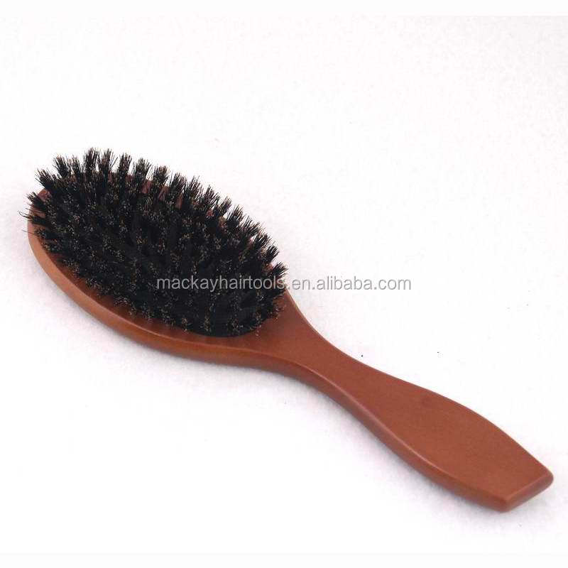 New pure boar bristle hair brush wood