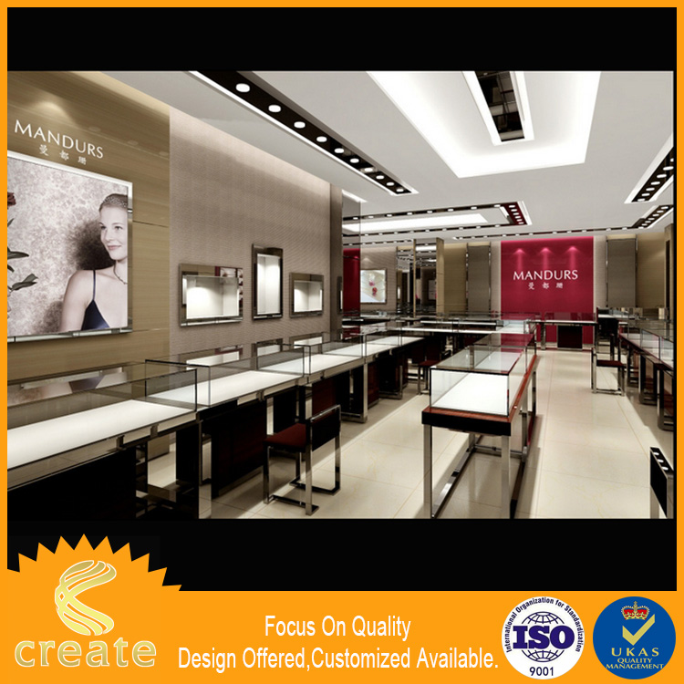 Electronic Products Jewelry Shop Glass Wood Showcase Design/Glass Showcase Wood Show Cabinet/Wooden Glass exhibition