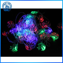 Multicolor LED Plstic Star String Christmas Lights On Tree
