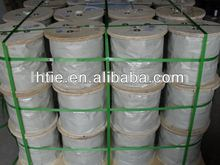 1X 7 galvanized steel wire rope 0.5~16mm, used for oilfield, construction, maritime, petrochemical , wire rope sling
