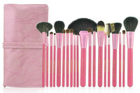 2013 New Arrival 20pcs Professional Makeup Brush Set Goat Hair Cosmetic Brushes with Pink Pouch Case