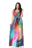 2015 Women's Embroidered Vintage Bohemian Maxi Dress Long Sleeve Cotton Dress