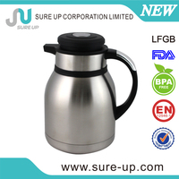 Insulated coffee lever wide mouth vacuum air pump pot