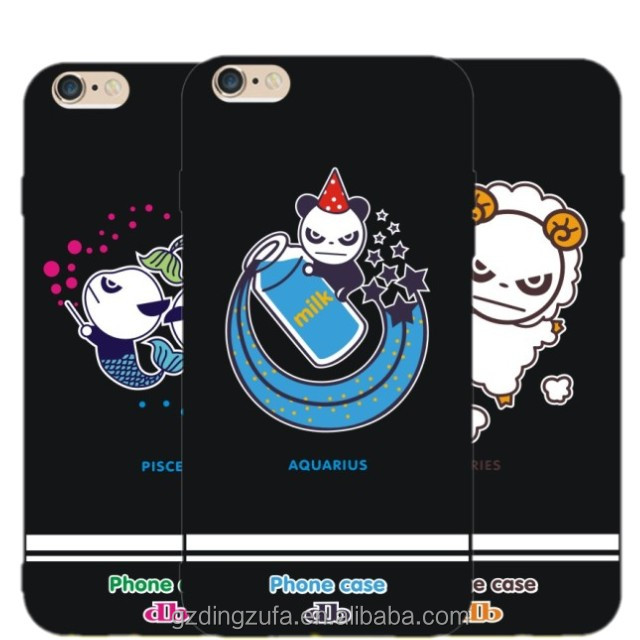 Chinese suppliers TPU silicon cartoon phone case sublimation 3D painting for iphone 6s,Accept custom