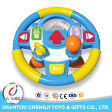 Funny language learning musical toy steering wheel with light