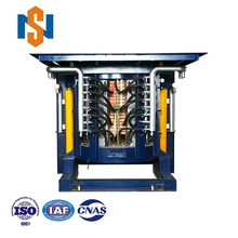 2Tons capacity automatically titling steel scrap electric induction melting furnace