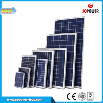 18V 100W Polycrystalline Photovoltaic Solar Panel for House