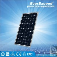 EverExceed 150w 156*156mm Monocrystalline Solar power Panel system for industry and homeage