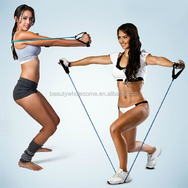 Latex fitness exercise resistance band ,H0T37 exercise resistance bands
