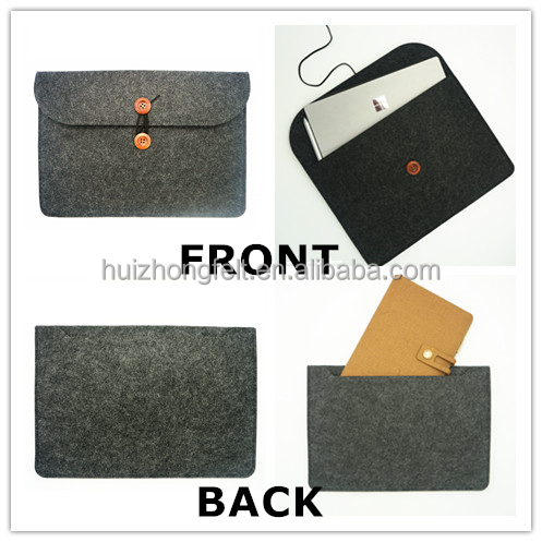 Chinese high quality polyester felt computer laptop sleeve case bag