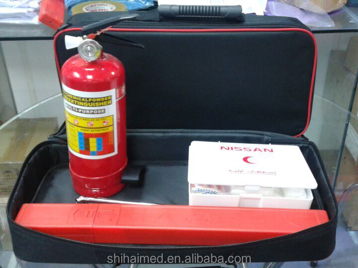 Car First Aid Kit Car Emergency Kit with Certificate SASO 2016 hot selling