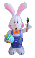 120cm/4ft Inflatable Decoration Bunny with Brush for Easter Festive Holiday