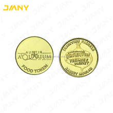 China Factory Anodized Aluminum Custom Engraved Coins and Tokens