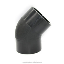 All size pe fittings hdpe 45 elbow for water pipe