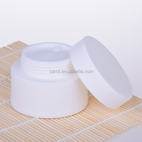 wholesale skincare 80ml white pp plastic cosmetic cream jar for packaging