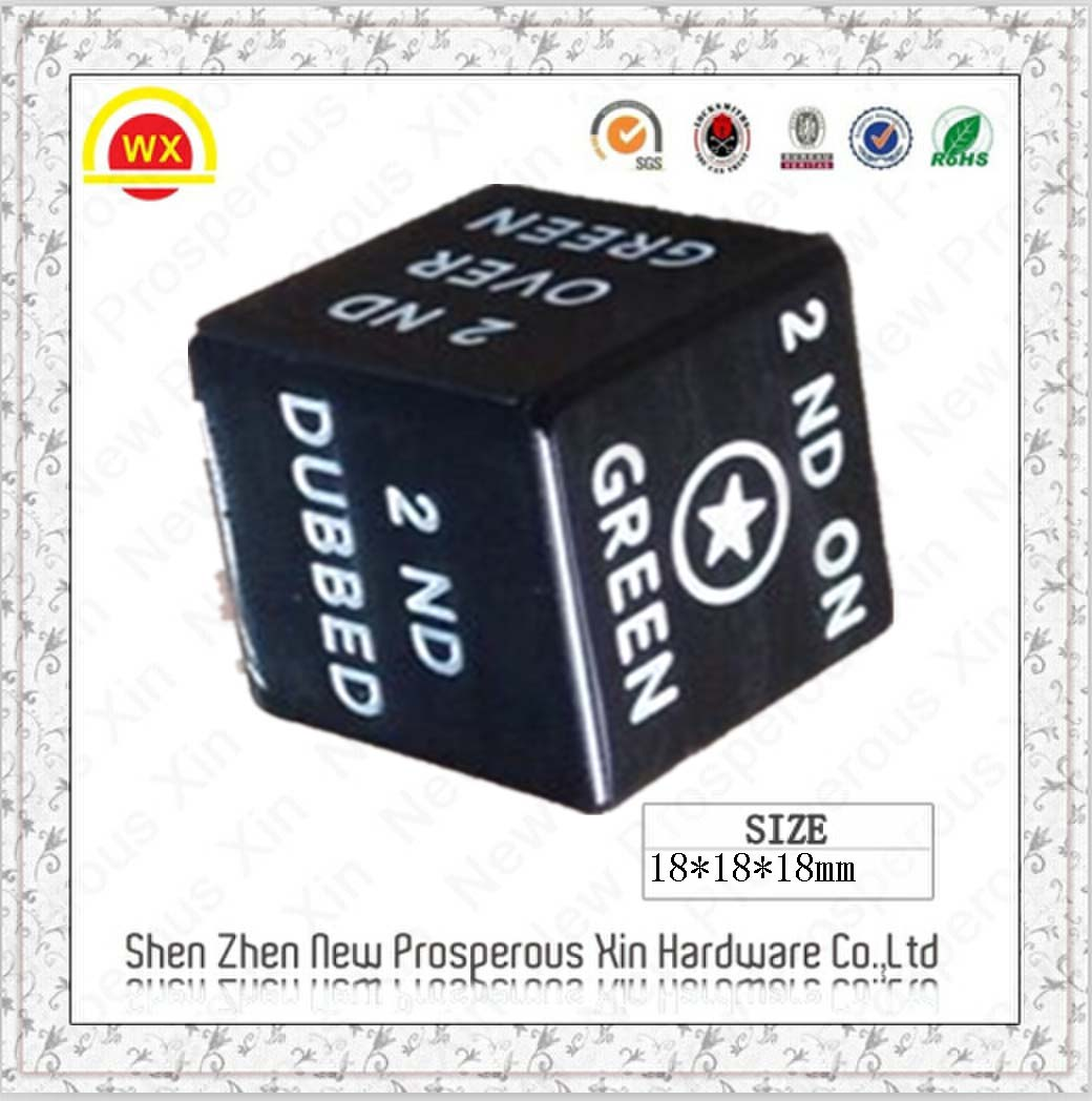 2014 hottest engraved custom electronic dice