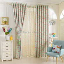 bedroom Short window drapery floral design rustic blackout curtain