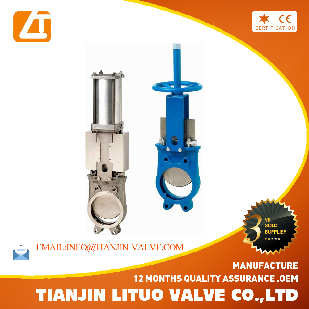pneumatic stainless steel 316 DN 150mm knife gate valve
