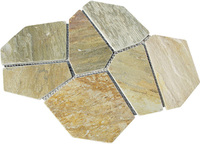flexible flagstone veneer mat mesh stone tiles for walls