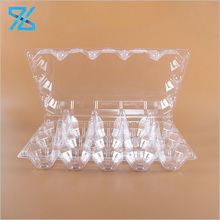 Eco friendly biodegradable transparent clamshell plastic wholesale egg cartons