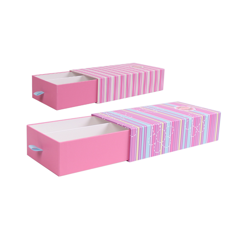 Small pull out divided cardboard paper gift boxes with dividers