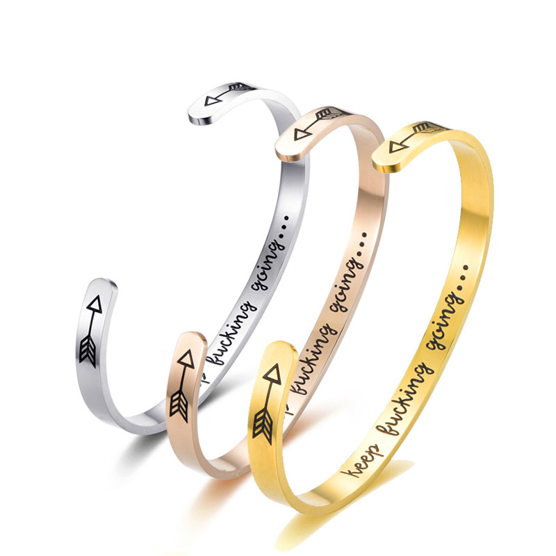 Most Popular Stainless Steel Jewelry Three Colors Heart Shape Charm Eco Bracelet Bangle for Women