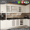 white waterproof PVC storage simple designs new model kitchen cabinet