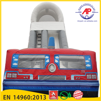 Gaint Fire Truck Inflatable Slide for sales