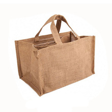 Alibaba China Custom Printed Cheap Prices Jute Beer Wine Bottle Bag