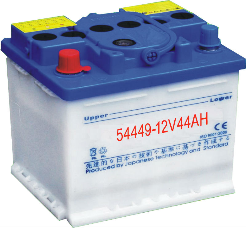 High Quality China Auto Battery DIN 54449 Standard Dry Charged Car Battery 12V 44Ah