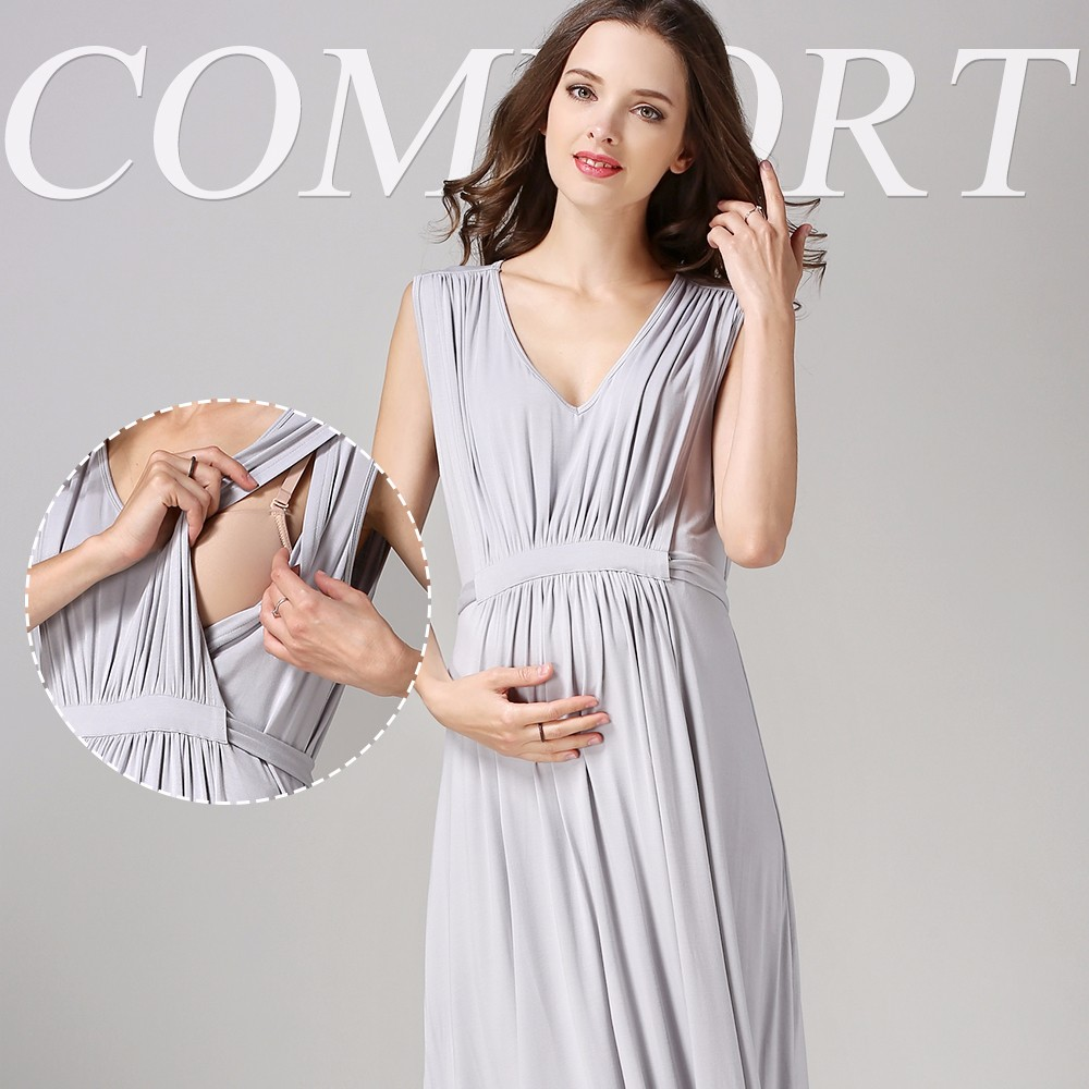 MOQ 1 PC Maternity Clothing for Evening Events Long Dress Online Stores