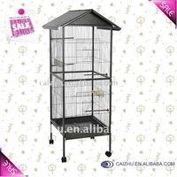 Top Roof Metal big bird cage, parrot cage, bird aviary for bird flight and breeding