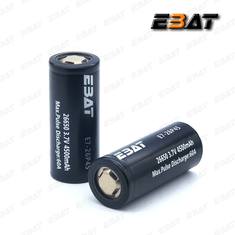 Li-ion 26650 3.7v 6800mah rechargeable battery EBAT imr26650 4500mah powerful battery