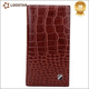 Bifold Crocodile Embossed Wallet, PU Long Wallet for Men