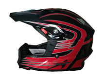 Red Color Best Sales Motorcross Helmet Full Face Helmet ECE Approved Helmet Glass Fiber Helmet