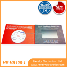 1.8/2.4/2.8/3.5/4.3/5/7 inch tft lcd advertising video greeting brochures/video business card