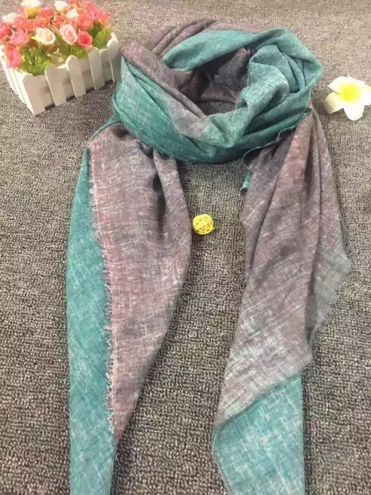 2017 New Wholesale Spring Long Slub Cotton Scarf Women